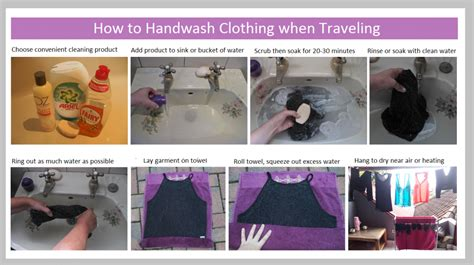 how do you wash clothes in a sink how to wash clothing when traveling easy by