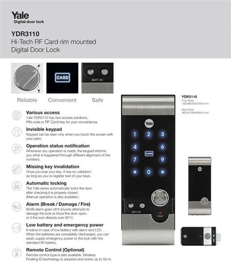 Yale Ydr3110 yale digital door lock ydr3110 safetrolley