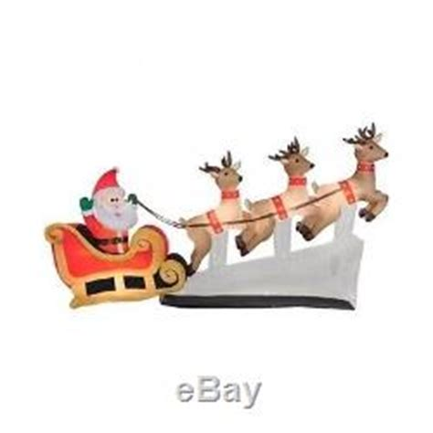 santa sleigh yard decoration santa sleigh flying reindeer lighted up