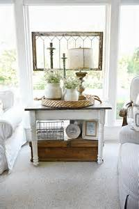 End Table Decor by White Farmhouse End Table