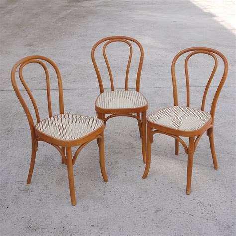 vintage bentwood rattan dining chairs set    sale  pamono