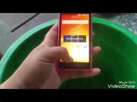 Handphone Samsung Anti Air hp anti air sony xperia z1 compact test