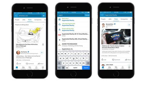 Linkedin Search For Linkedin Announces New Content Search Feature On Linkedin Ios And Android Apps
