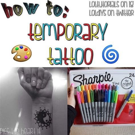 how to get a temporary tattoo how to temporary step 1 gt get any coloured