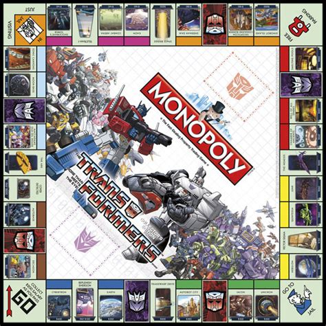 Monopoly Transformers transformers monopoly style guide