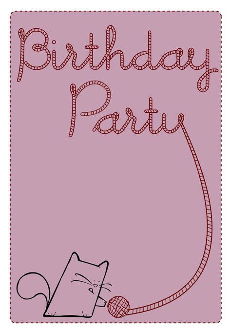 printable cat card template free printable birthday cat invitation olivias