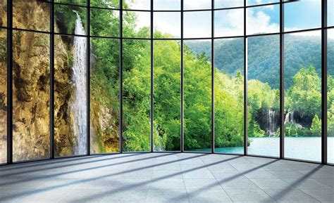 L Spesial Price L Back 3d Wall Sticker Bahan Kayu Rin view tropical landscape wall paper mural buy at europosters