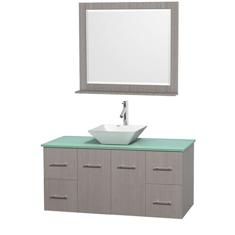 Glass Vanity Countertop by Wyndham Collection Wcvw00948sgoggd2wm36 Centra 48 Inch