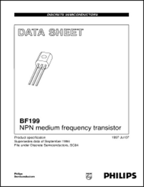 transistor f199 datasheet bf199