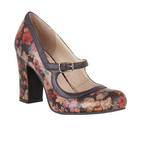 lotus shoes purple floral printed jasmyn court shoes lotus