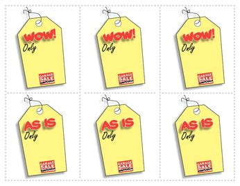 Free Printable Garage Sale Price Tags by Free Printable Garage Sale Tags Garage Sale Marketplace