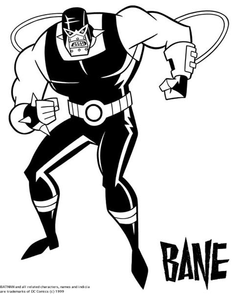 bane coloring pages see best of photos of the batman villain