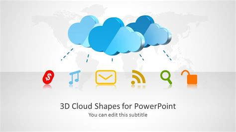 3d Cloud Shapes For Powerpoint Slidemodel Cloud Computing Ppt Templates Free