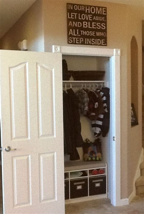 Front Closet Organization Ideas by Best 25 Coat Closet Makeovers Ideas On Front