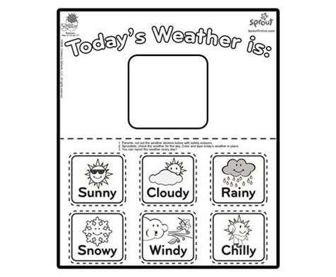 printable weather templates preschool weather signs printable weather charts for
