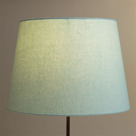 world market l shades sea blue linen l shade world market