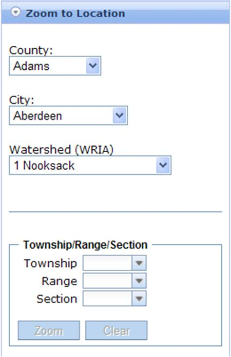 Township Search By Address Water Resources Web Map Help Map Search