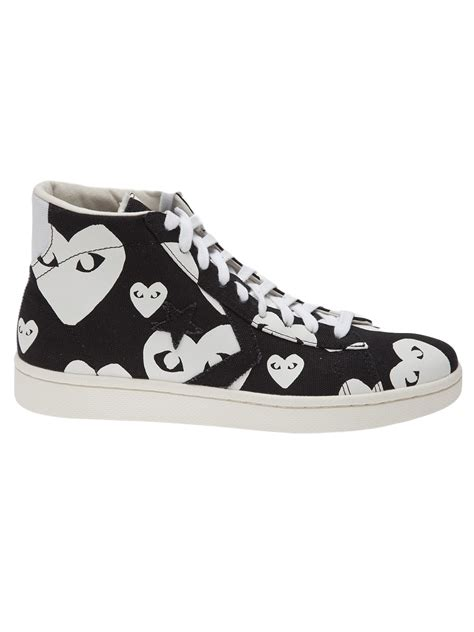 comme des garcons mens sneakers play comme des gar 231 ons pro hi sneakers in black for
