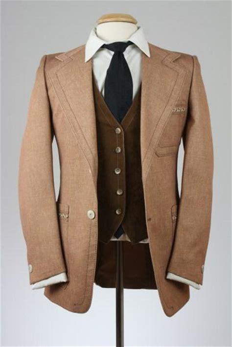 Silver Woods 3 vintage 80s silver woods brown tweed western 3 suit