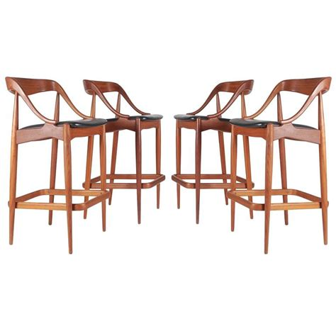 danish bar stools danish teak bar stools by johannes andersen for morredi at