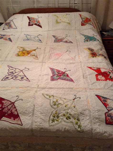Handkerchief Butterfly Quilt Pattern by Butterfly Hanky Quilt Osuzyquilts Free Motion Quilting