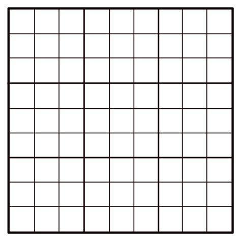 printable sudoku grid clipart 9x9 empty sudoku grid