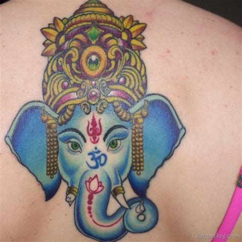blue ganesha tattoo 50 great ganesha tattoos on back