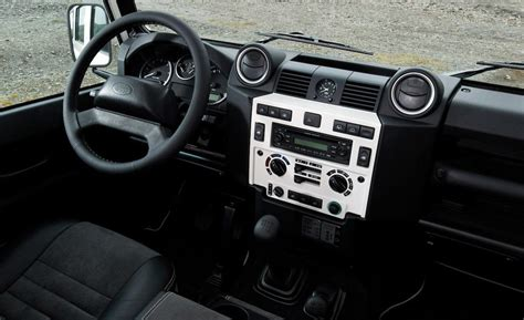 land rover 110 interior car and driver