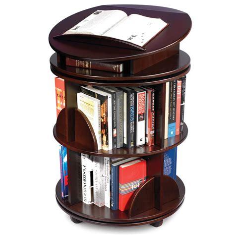 rotating bookshelves the rotating bookcase hammacher schlemmer