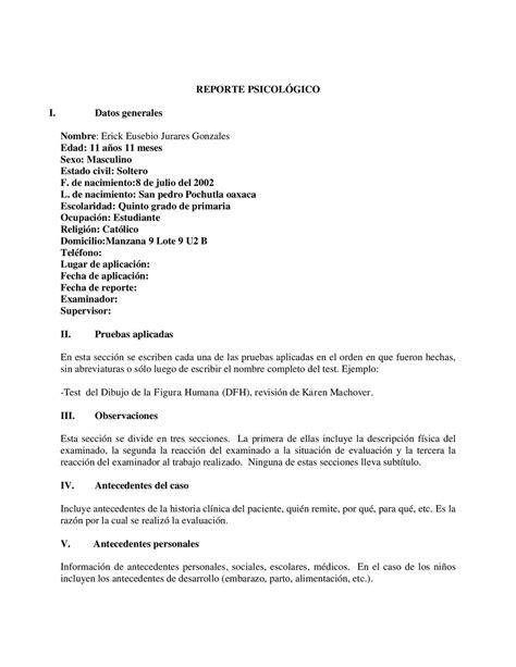 Calaméo - Informe Psicologico Copy