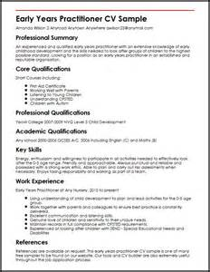 Early Years Practitioner Cover Letter early years practitioner cv sle myperfectcv