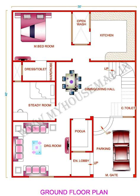 10 Marla House Map Plan House Design Plans House Plan Maps Etsung Com