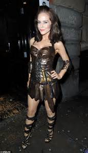 Bold stephanie waring looked amazing in her gladiator inspired getup