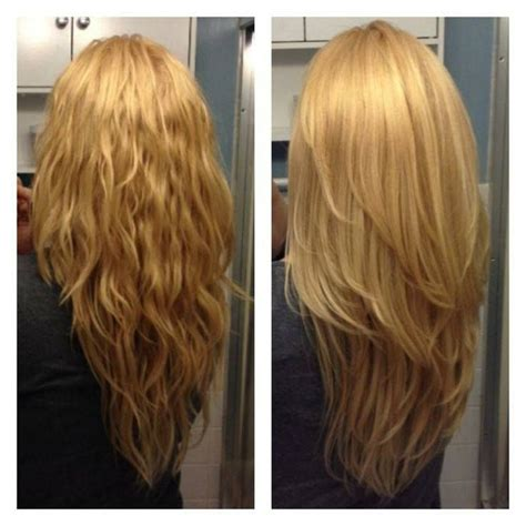 cutting hair layers horizontal or vertical wavy or straight it s a great cut hair pinterest