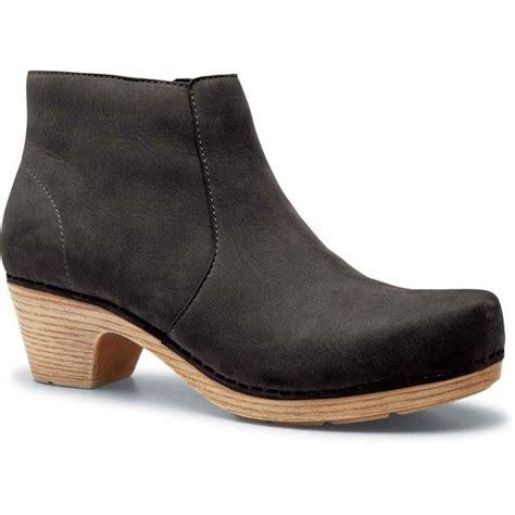 dansko s black milled nubuck leather boots