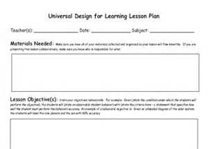 Udl Lesson Plan Template by Assistive Technology Vste09udlplanning