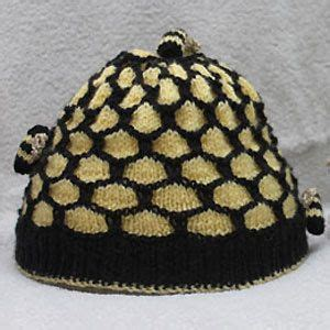 Bee Knit Hat knit a honeycomb and bees hat free knitting pattern