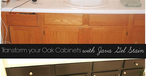 Gel Stain Oak Cabinets Before Transform Your Golden Oak Cabinets With Java Gel Stain