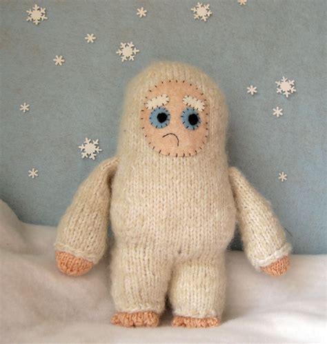knitted yeti pattern sad yeti knitting pattern make