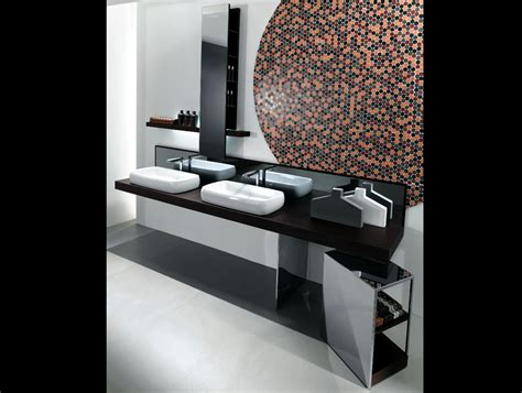 Milldue Kubik 55 Wenge Wood Modern Italian Bathroom Vanities Modern Italian Bathroom Vanities