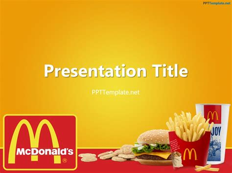 mcdonald s background free mcdonald s with logo ppt template