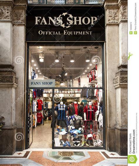 Fans Shop Official Equipment Milan Editorial Stock Photo