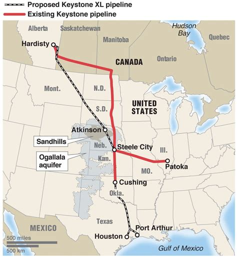 keystone pipeline map texas keystone xl pipeline construction back on the drawing board states review pros and cons the