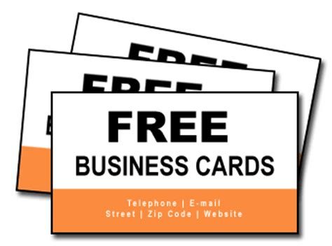 Completely Free Business Cards Free Shipping