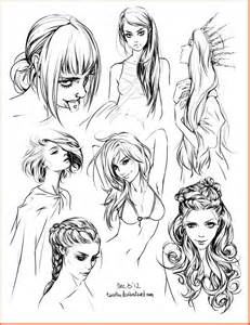 hair style sketches by tsvetka on deviantart