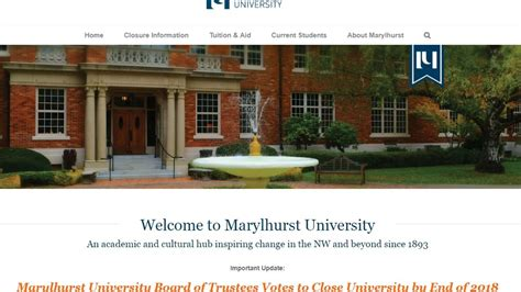 Marylhurst Mba Accreditation by Marylhurst To At The End Of 2018 Board