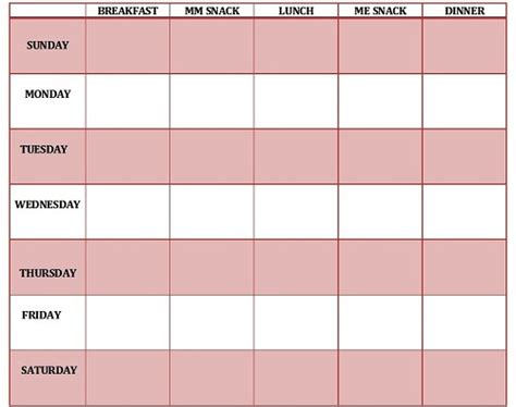 printable table planner weekly chart printable printable maps