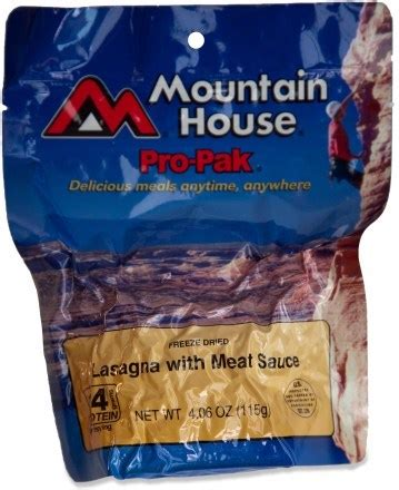mountain house pro pak mountain house pro pak lasagna with meat sauce serves 1