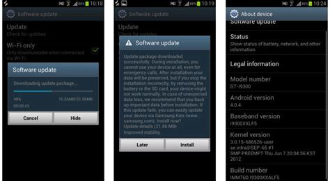 how to update software in samsung galaxy y gt s5360 software update for samsung galaxy s