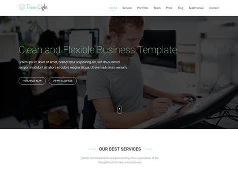colibri free bootstrap business template templategarden a free twitter bootstrap business template themelight